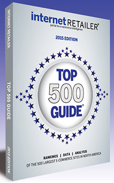 The 2015 Top 500 Guide, now in its 12th edition, ranks the 500 leading web merchants in the U.S. and Canada by 2014 online sales and other key metrics. (PRNewsFoto/Internet Retailer)